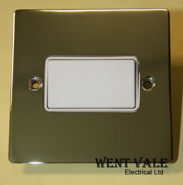 Heritage Brass T02.990.W 6a 3 Pole Flat Plate Fan Isolator Switch Un-used in Box